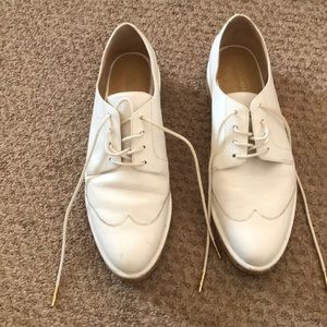 Michael Kors White Leather Brogues